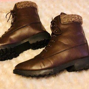 Rue21 brown combat boots